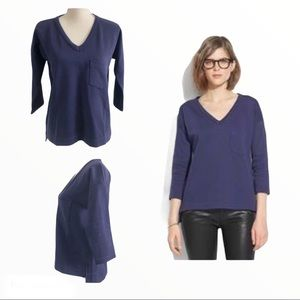 Madewell Pique Top with Side Zippers